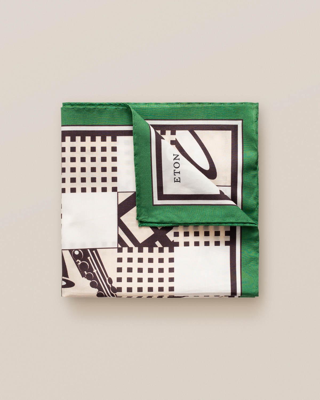 Grön näsduk med jazzmönster