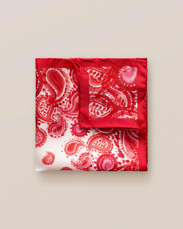 Röd näsduk med akvarellpaisley