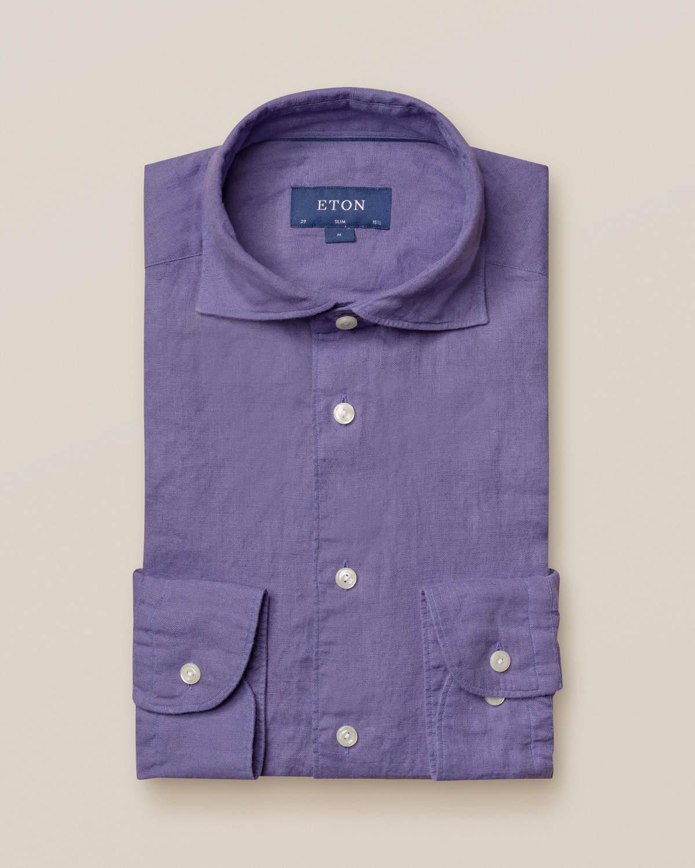 Lila linneskjorta - soft