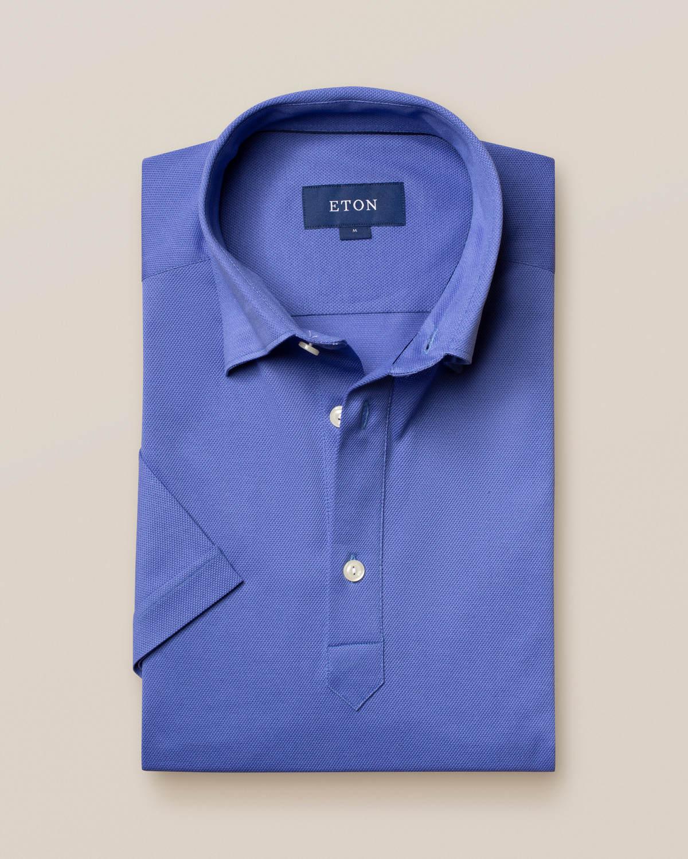 Blåklint pikéskjorta - kortärmad