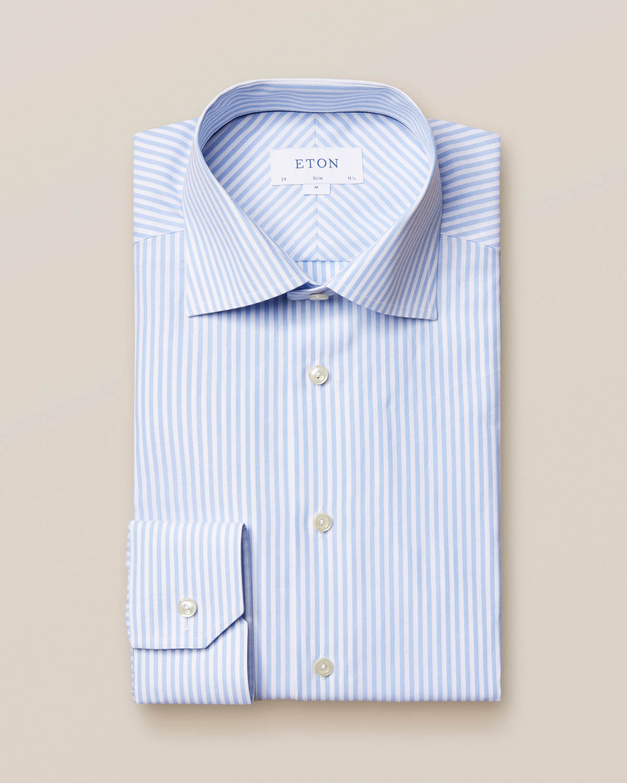 Ljusblå extra fin satängskjorta