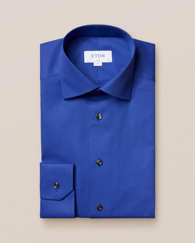 Navy satängskjorta
