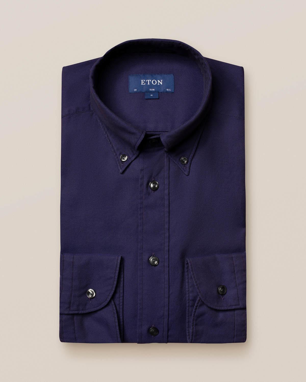 Marinblå oxfordskjorta - soft