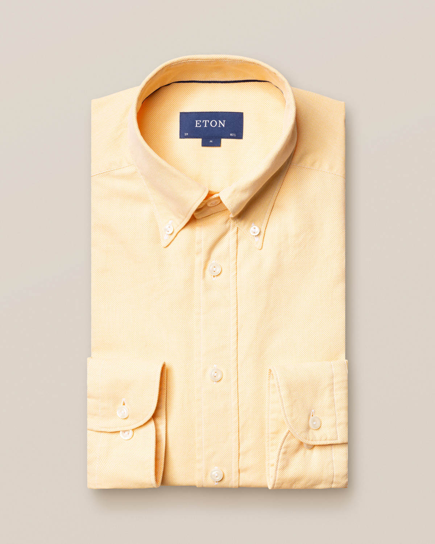 Gul oxfordskjorta - soft
