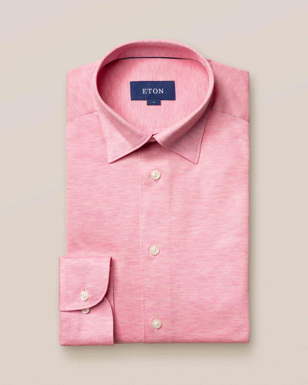 Rosa skjorta pikétyg - långärmad